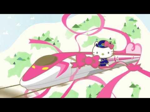 hello kitty shinkansen bullet train ready for service in