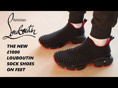 Trying on the NEW £1000 Louboutin spike sock sneakers!