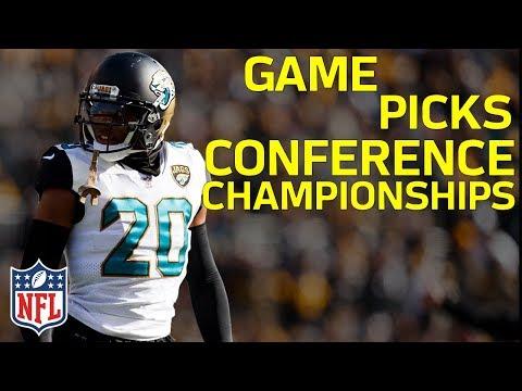 AFC & NFC Championship Game Picks!   NFL Highlights