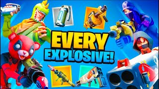 Buying ALL The EXPLOSIVES In Fortnite!!