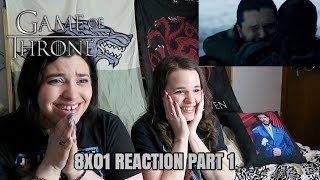 "GAME OF THRONES 8X01 ""WINTERFELL"" REACTION PART 1"