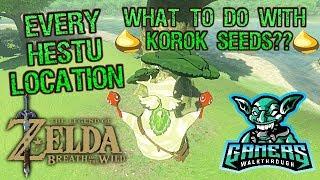 Legend of Zelda Breath of the Wild Location of Korok Seed Guy Hetsu what to do with korok seeds