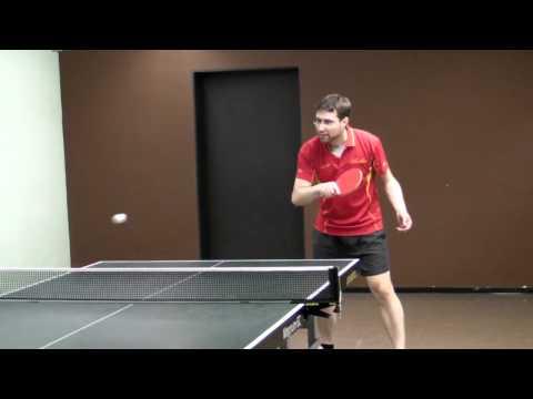 Tischtennis Tibhar Grass D.TecS OX Hackblock auf NSD - Slow Motion