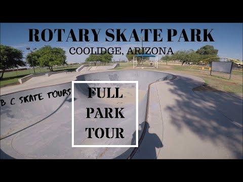 Rotary Skate Park Full Skate Park Tour Coolidge, Arizona