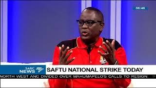 Zwelinzima Vavi on SAFTU's national strike