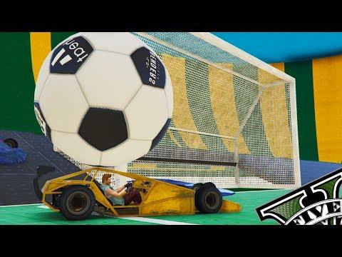 GTA V ONLINE: FUTEBOL COM CARROS TIPO ROCKET LEAGUE! VAI RONALVÃO
