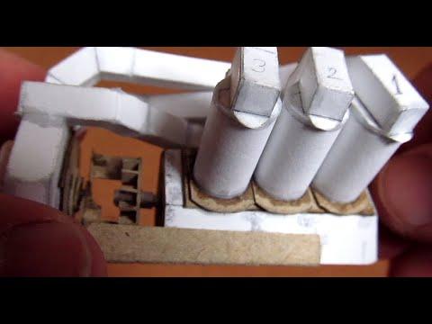 Paineilmalla toimiva paperinen V6-moottori