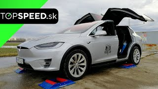 Tesla Model X 4x4 intelligence test - TOPSPEED.sk