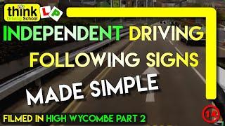 preview picture of video 'Independent Driving in High Wycombe Following Signs and Basic Commentary @ Think Driving School'