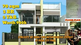 WORTH 900K, 70 SQM, DREAM HOUSE CAME TRUE OF MR. AND MRS. LORENZO OF PASIG CITY PHILS. 3 BR, 2 T&B