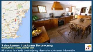 preview picture of video '3 slaapkamers 1 badkamer Dorpswoning te Koop in Country House, Jacarilla, Alicante, Spain'