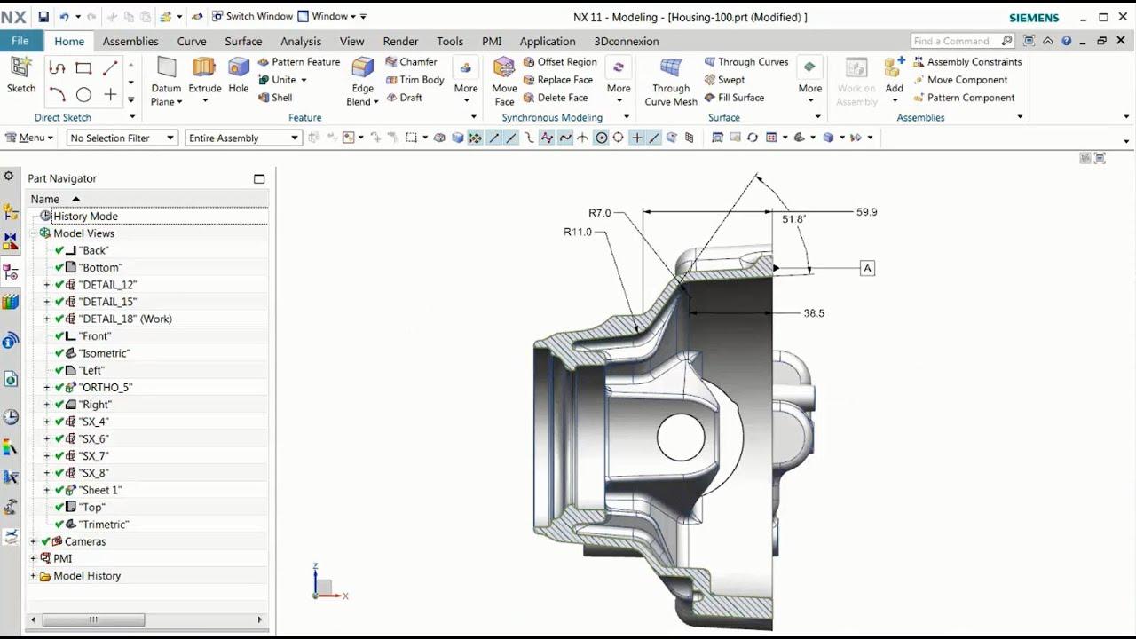 Vorschaubild: NX 11: Zeichnungsansichten in PMI-Objekte konvertieren
