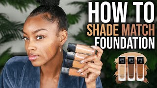 HOW TO MATCH DRUGSTORE FOUNDATION TO YOUR SKIN TONE | Slim Reshae