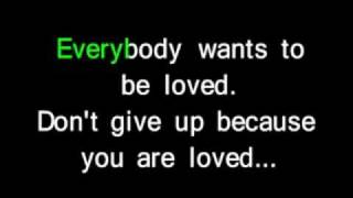 You Are Loved Don't Give Up As By Josh Groban