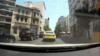 preview picture of video 'Driving in center of Athens, Greece [1080p]'