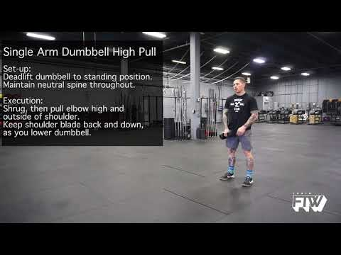 Single Arm Dumbbell High Pull