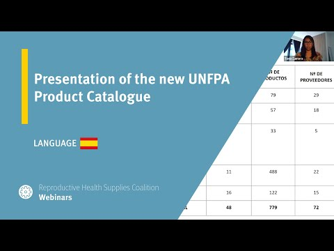 Presentation of the new UNFPA Product Catalogue