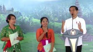Mahasiswi Bali Sebut Ikan Putri Duyung dan Kuda Nil Bikin Jokowi Tertawa Tapi Tetap Dapat Sepeda