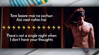 Vilen | Ek Raat   - Lyrics Video with Translation - YouTube