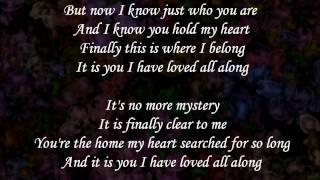 It is you (I have loved) - Dana Glover (lyrics)