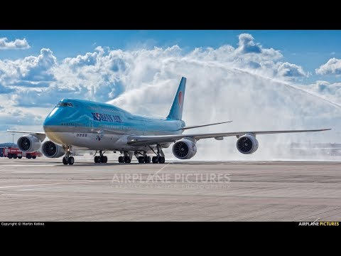 P3D PMDG 747 V3 Korean air New livery Jeju to Seoul with
