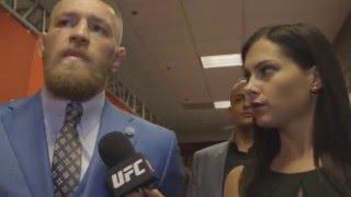 UFC 196: Conor McGregor Backstage Interview