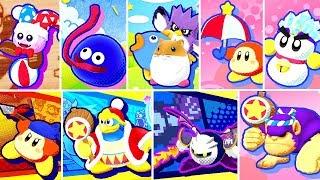 Kirby Star Allies - All Friends Quotes & Bios + Dream Friends Splash Screens