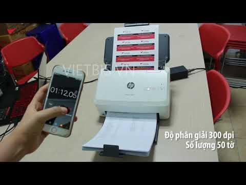 Thực tế tốc độ của máy scan HP 3000 s3 ở từng độ phân giải khác nhau