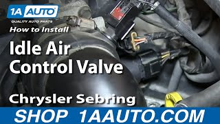 How To Install Replace Idle Air Control Valve 2.7L 2001-06 Chrysler Sebring Dodge Stratus