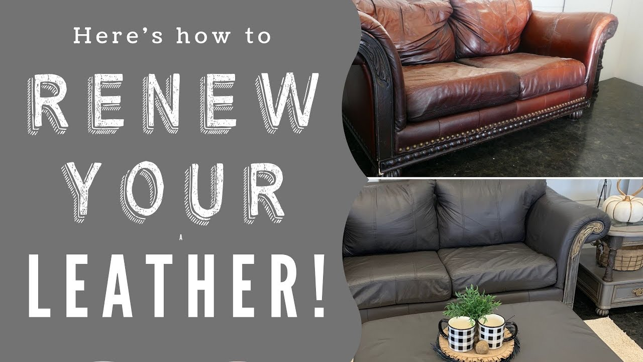 Here's How to Renew your Leather & Vinyl Upholstery with ALL-IN-ONE-Paint! Paint Your Sofa!