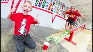 FATHER SON PING PONG TRICK SHOTS 3!