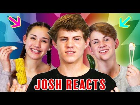 Josh Reacts: GUMMY FOOD vs. REAL FOOD CHALLENGE! (MattyBRaps vs Gracie Haschak)
