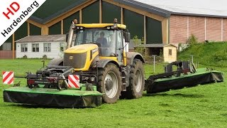 Mowing With JCB Fastrac 8250 Vario And Vicon Triple Mower | Uddel | Netherlands | 2015.