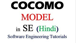 Cocomo Model  (Constructive Cost Model Introduction) in Hindi | Software Engineering Tutorials