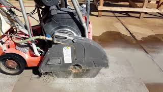 Concrete Cutting With  20 Inch Diamond Blade Wet Saw