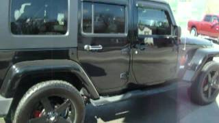 "2007 jeep wrangler with 20"" rockstar wheels for sale at Auto City"