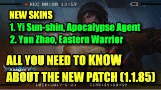Mobile Legends: NEW Yi Sun-shin & Yun Zhao SKINS!! (Apocalypse Agent/Eastern Warrior) - 1.1.85 Patch