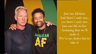 Just One Lifetime - Sting & Shaggy - (Lyrics)