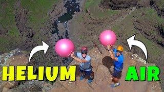HELIUM VS. AIR Magnus Effect Experiment from 200m!