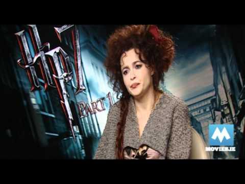 Helena Bonham Carter (Bellatrix Lestrange) on HARRY POTTER & THE DEATHLY HALLOWS HP7 & Dobby