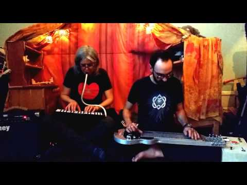 Lap steel and melodica duo recorded during a snowstorm.