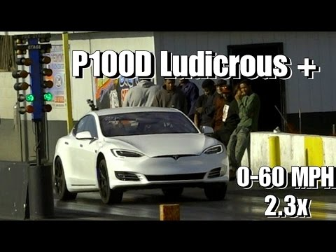 Tesla Model S P100D Ludicrous Plus 0-60 Video