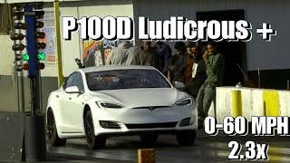 Tesla P100D Ludicrous Plus - How Fast Can It Possibly Be Drag Racing? Faraday Future Killer