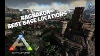ARK Ragnarok Top Best Base Locations! - Map Showcase (PvP/PvE)