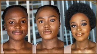 Makeup Transformation On Melanin Skin •| Poised By Suliat