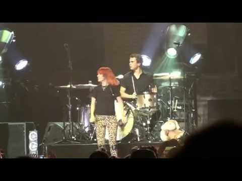 Paramore Goofing Around Taylor York Drum Solo!  Jeremy Does a Stage Dive!