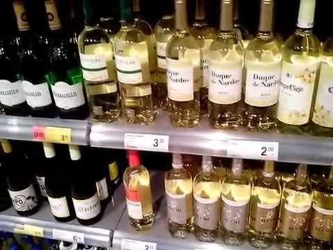 Цены на алкоголь  в Испании/Prices of alcohol in Spain