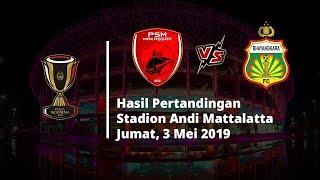 Hasil Pertandingan, PSM Makassar Kalahkan Bhayangkara FC, Juku Eja Lolos ke Semifinal