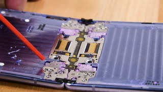 Samsung Galaxy Z Flip Teardown and Dust Test FAILURE!