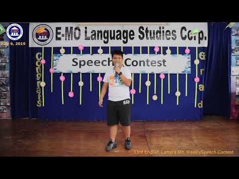 SPEECH CONTEST   MIKE TRI   ENGLISH PROFICIENCY COURSE   JULY 6, 2019